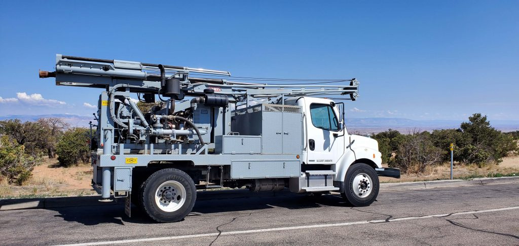 Close Up Truck Drilling Rig